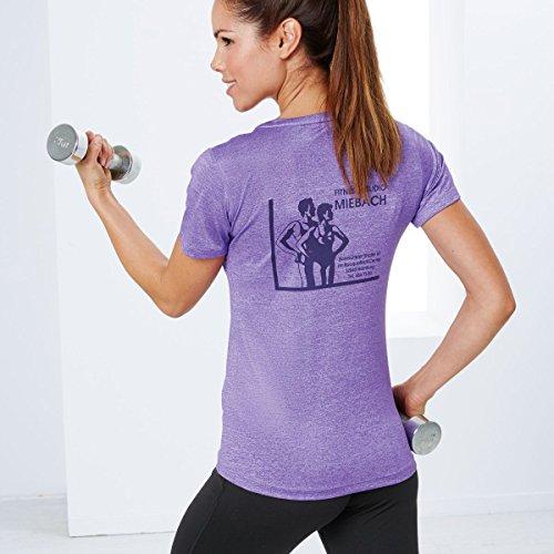 SPIRO Fitness-T-Shirt Damen, sehr leichtes Material, schnelltrocknend, winddicht, atmungsaktiv, Stretch, figurbetont, sportlich Lila