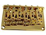 Gotoh GTC12 B String-12-Ponte Hardtail per chitarra fisso, colore: nero, Oro