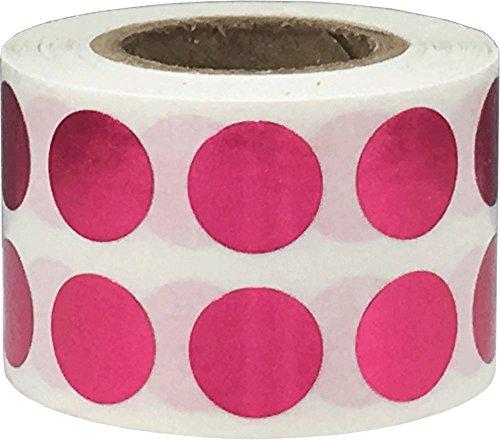 Glänzend Rose Kreis Punkt Aufkleber, 13 mm 1/2 Zoll Runde, 1000 Etiketten auf einer Rolle