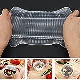 Silicone involucro di plastica, Woopower 4confezioni riutilizzabile in silicone alimentare saran Wrap Seal cover stretch coperchi ambientale per utensili da cucina
