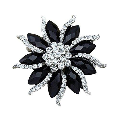 Contever® Joyería de Bling Crystal Flore Broche & Pin Decorado De La Boda Nupcial