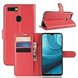 Venga amigos Coque pour Oppo A7/Oppo AX7,Frlife | Housse en Cuir PU pour Oppo A7/Oppo AX7 Coque avec Étui en Silicone,Protection Complète pour Votre Téléphone Portable Rouge