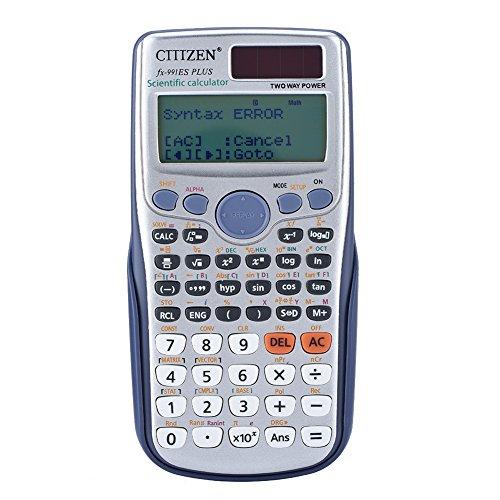 Richer-R Wissenschaftlicher Taschenrechner, FX-991ES Plus wissenschaftlicher Rechner mit natürlichem Display,Tragbar Student Schulrechner Scientific Vollfunktionsrechner für Schule/Büro
