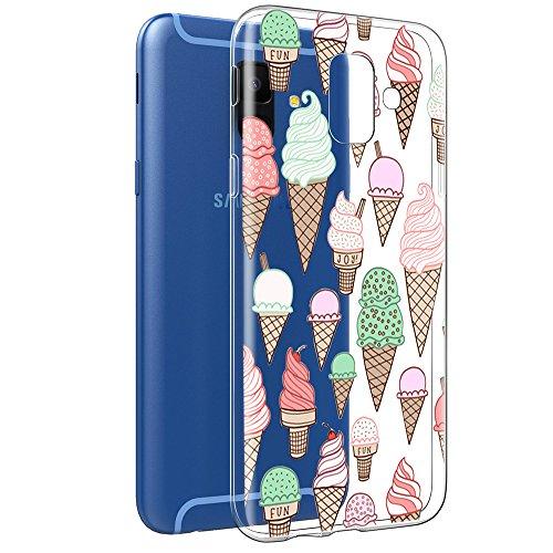Eis Gel Skin Schutzhülle (Eouine Samsung Galaxy A6 2018 Hülle, Schutzhülle Silikon Transparent mit Muster Handyhülle [Ultra Dünn] Weich TPU Bumper Case Backcover für Samsung Galaxy A6 2018 (EIS))
