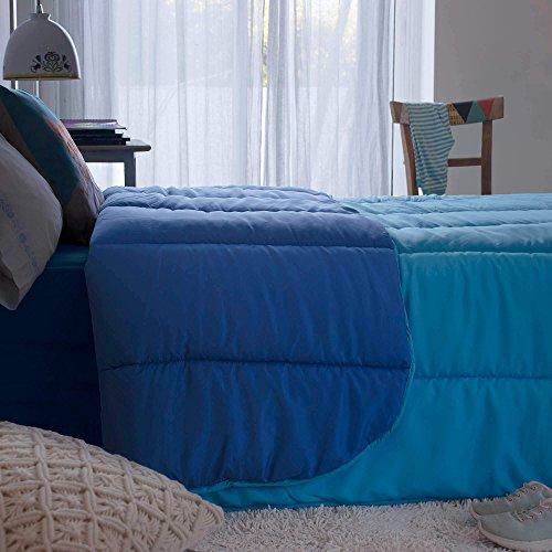 EDREDON SINTETICO AZUL ICELANDS (350G) Cama 090 (150x220cm) Color AZUL IMPERIAL / AZUL CIAN
