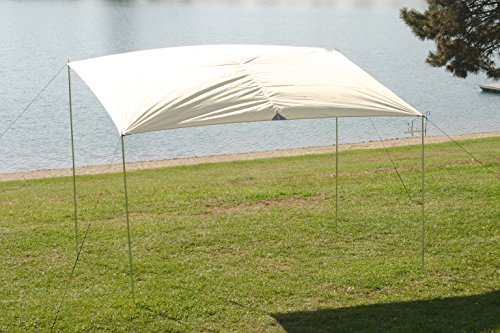 MONTIS SPRING Sonnensegel, Sonnenschutz & Windschutz mit wasserdichtem Material als Wetterschutz-Segel, atmungsatives Material mit UV Schutz als Schattenspender & Schattensegel für Outdoor & Camping