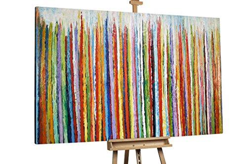 'Rausch der Farben' 180x120cm | Abstrakt Bunt groß XXL | Modernes Kunst Ölbild