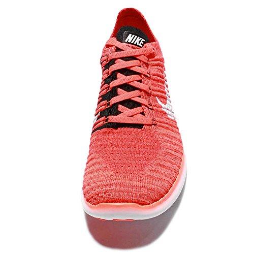 Nike Free Rn Flyknit, Chaussures de Running Entrainement Homme Naranja (Bright Crimson / White-Black)