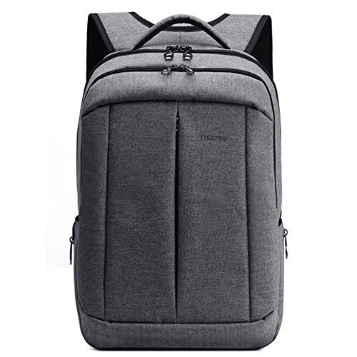 Slotra Zaino per laptop da 17 per uomo e donna viaggi zaino scuola borsa Casual Anti furto leggero Grigio Gray