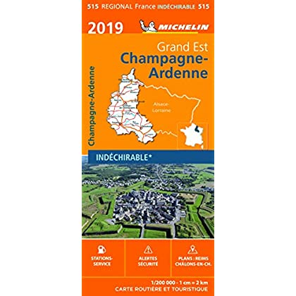 Carte Champagne-Ardenne Michelin 2019