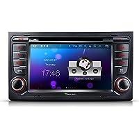 Eonon GA8158 Android 7.1 Radio de audio estéreo para coche, 7 pulgadas, Autoradio 2 DIN, unidad de cabezal de coche, navegador GPS para coche con reproductor de CD DVD para Audi, A4/S4/RS4 (2002-2007) Seat Exeo (2009-2012) 7 pulgadas, pantalla táctil capacitiva 1024x600 de alta definición, control de volante, DVR, entrada de cámara trasera OBD2 Bluetooth 4.0 DAB+ control RDS WIFI 4G 3G, HDMI, AUX Subwoofer