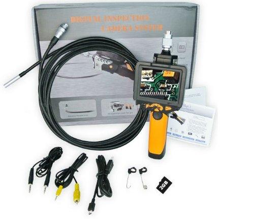 Preisvergleich Produktbild Gowe Abnehmbare 3,5LCD Video Inspektionskamera Endoskop Snake Scope Ø 8,2mm + 5m Flexible Tube + 2GB MicroSD Karte