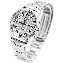Zifferblatt Neue Grau glänzendes Silber Band PNP glänzende silberne Uhrgehäuse-Mode-Uhr