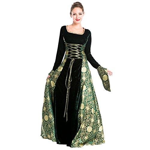 Imagen de free fisher disfraz de reina diosa princesa medieval virgen maría mujer traje gitano estampada sexy halloween costume cosplay para carnaval espectáculos