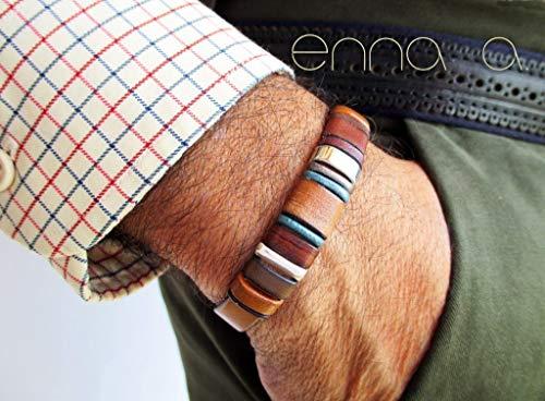Handgefertigtes Armband, braunes Leder, Enna Clasic 2 -