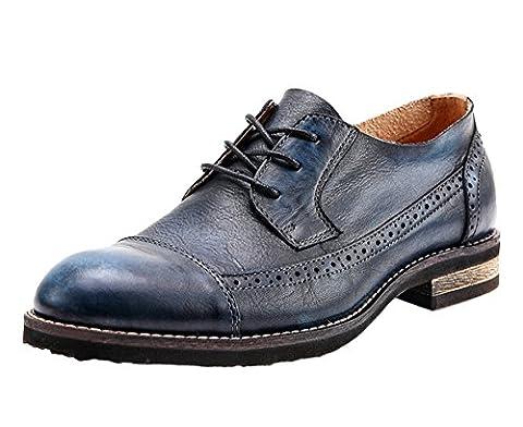 Insun , Chaussures de ville à lacets pour garçon - bleu - bleu, 42.5