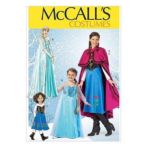 McCalls MC 7000 KID(3-4 5-6 7-8-10-12-14) Schnittmuster zum Nähen, Elegant, Extravagant, (Costumes Mccall's)
