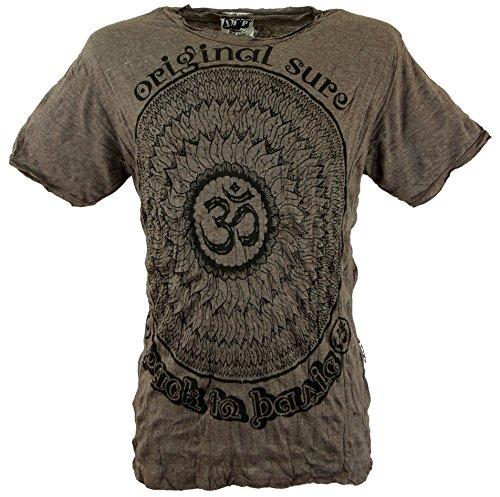 GURU-SHOP, Camiseta Sure T-Shirt Mandala OM, Topo, Algodón, Tamaño:M, Camisetas Seguras