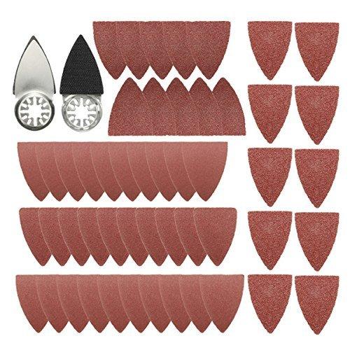 Generic 51pcs Finger Schleifblätter Pads Papier-Set, für Fein Multimaster Bosch Multitool