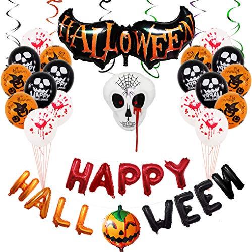Yidaxing store kit di palloncini di halloween, set di palloncini di pipistrelli di zucca per la decorazione di halloween, halloween party set,decorazioni per feste e palloncini per halloween