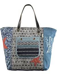 Sunsa Handtasche Damen XXL Badetasche Tasche Shopper Schultertasche große  Sporttasche Handgelenktasche Strandtasche Damentasche Canvastasche  Weekender Retro da4737e40c