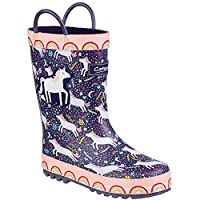 Cotswold Sprinkle Girls Synthetic Material Wellies Purple/Pink & White - UK Size 7 (EU 24)