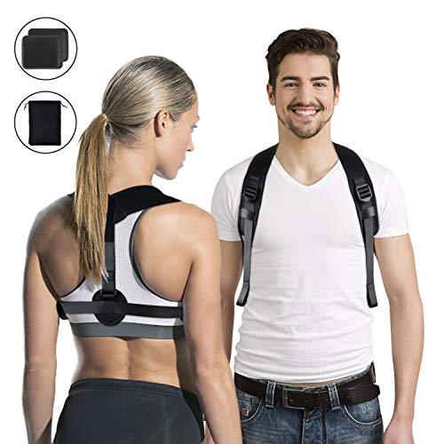 Haltungskorrektur Geradehalter für Rücken Schulter Haltungskorrektur Rückenstütze für Bessere Körperhaltung Einstellbare Posture Corrector Haltungstrainer für Damen und Herren Rückenstabilisator