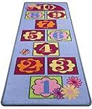 HMT 708 - Tappeto gioco per bambini, in poliammide, motivo: campana (gioco), 67 x 200 cm, multicolore