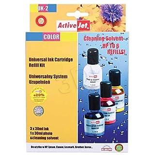 Activejet TI000619 Universal Ink Cartridge Refill Kit