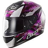 LS2 Casque moto violet noir Ff352 Flutter