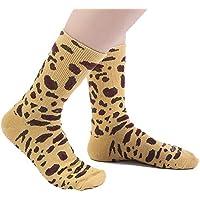 Los Hombres Mujeres Tubo Medio Calcetines Estampado De Leopardo Otoño E Invierno Mantener Caliente Algodón Transpirable