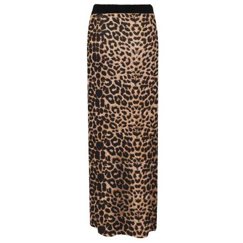 Gonna stile Gipsy vestito estivo taglia 40 - 58 Brown Leopard