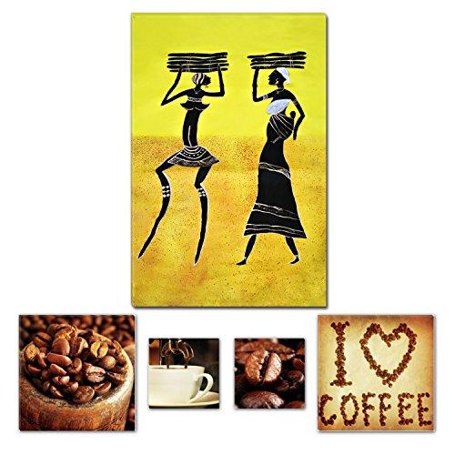 Eco Light Art Wand Leinwand Bundle Tribal Gelb afrikanischen Tradition Abstrakt, canvas, gelb, Large (Back Gelb Bay)