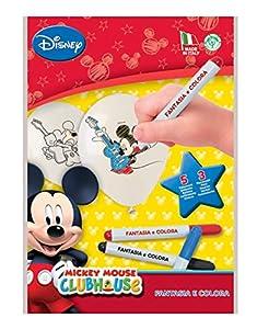 Kit Fantasia y Colora Mickey Mouse Club House (5globos de colorear y 3rotuladores)