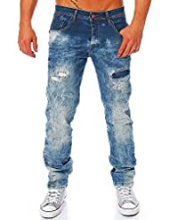 CIPO & BAXX Destroyed Jeans Hose Herren Jeans Denim Blau CD157B