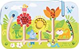 HABA 301472 - Magnetspiel Blumenlabyrinth |Wunderschön illustriertes Baby- und Kleinkindspielzeug ab 2 Jahren| Lernspiel aus Holz
