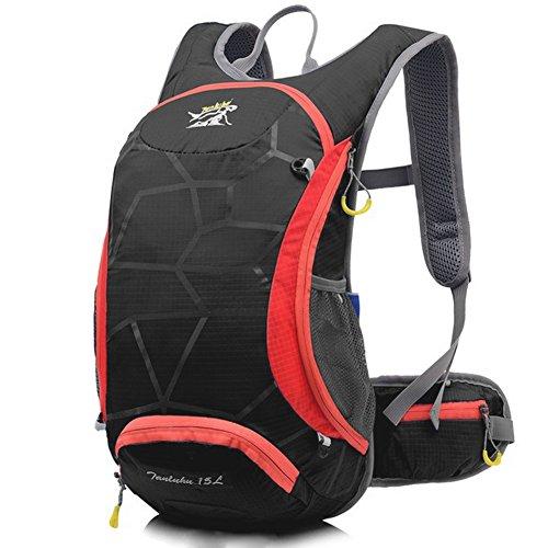 Fahrrad Rucksack Trinkblase Tasche 15L Riding Mountain Fahrrad Wasserdichte Tasche mit Ein Netz Halt ein Helm Schwarz