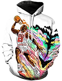 Super Estrella Jordan 3D Imprimir Hoodie Camiseta/Sudadera/Hooded Unisex Harajuku Estilo Camiseta