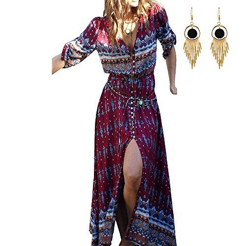 Lylafairy boho abito, lungo donna estivo floreale vestito
