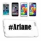Handyhülle iPhone 4 / 4S Hashtag ... #Ariane ... im Social Network Design Hardcase Schutzhülle Handycover Smart Cover für Apple iPhone … in Weiß … Schlank und schön, das ist unser HardCase. Das Case wird mit einem Klick auf deinem Smartphone befestigt