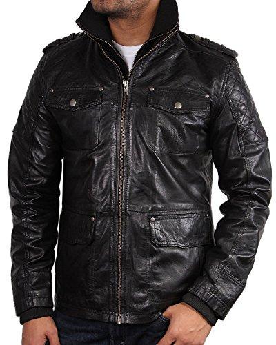 brandslock-mens-quilted-real-leather-bomber-jacket-black-medium