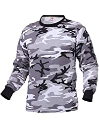 Rothco Mens Camouflage T-Shirt - Long Sleeve, City Camo, 2X-Large.