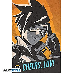 ABYstyle Abysse Corp_ABYDCO443 Overwatch - Póster de Tracer Cheers Luv (91,5 x 61)
