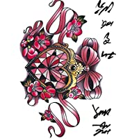 ruofengcp Body Art Color Diamond Heart Shaped Sailor Moon Big Tattoo Sticker Designer Temporary Tattoo Sticker
