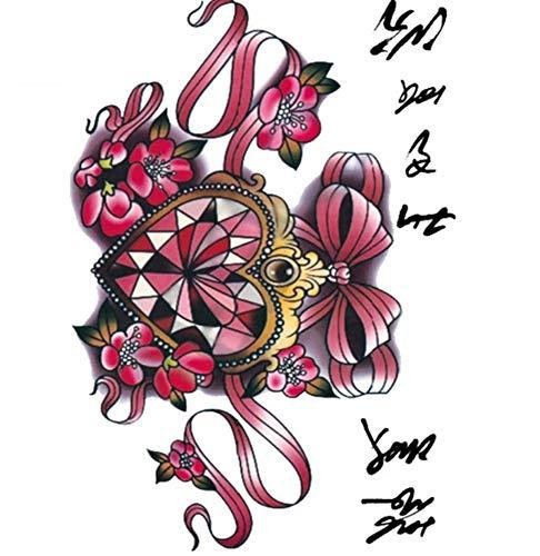 Color Diamond Heart Shaped Sailor Moon Große Tätowierung Aufkleber Designer Tätowierung Aufkleber ()