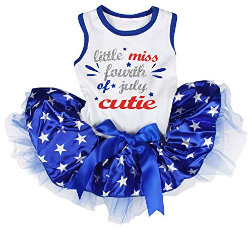 Petitebelle Little Miss Fourth of July Cutie Shirt Tutu Welpen Kleid