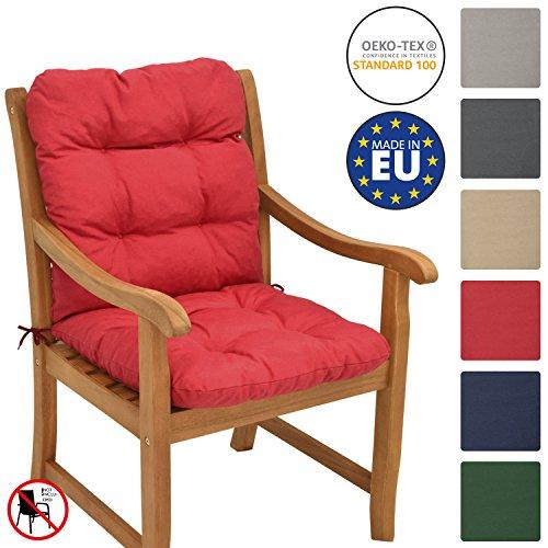 Beautissu Flair NL Cojín para sillas/Asiento Exterior con Respaldo bajo 100x50x8 cm...
