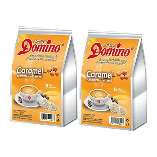 2x DOMINO Kaffeepads Karamell (á 18 Pads)