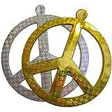 Grosse Hippie Dekoration für Mottpartys - 50cm - Silber