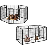 Milo & Misty Heavy Duty Playpen. 6 Panel Folding and Portable Outdoor Cage